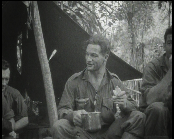 We found remarkable footage of Allen in 1943 in the Salamaua area.